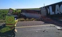 إصابتان حرجة وخطيرة في حادث طرق على شارع 6