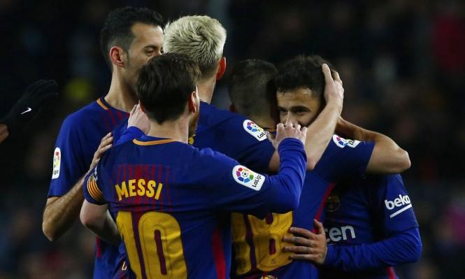 أرقام برشلونة قد تعرقل طريقه لاستعادة لقب الدوري