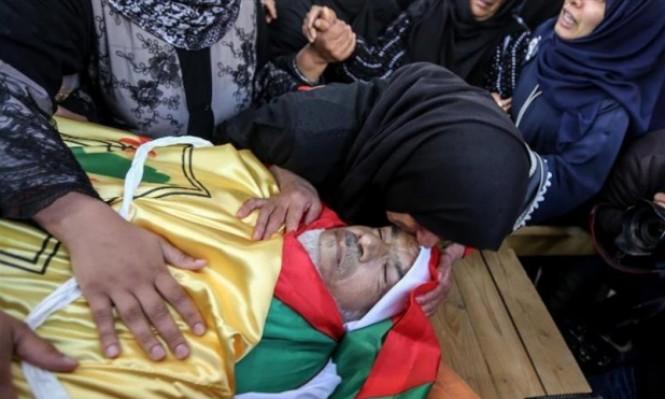 تشييع جثمان الشّهيد أبو جامع في قطاع غزّة