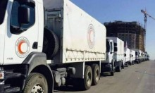 وصول قافلة مساعدات إنسانية للغوطة المحاصرة منذ 2013