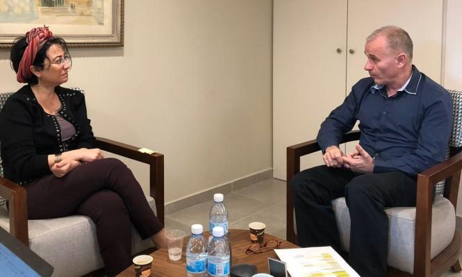 زعبي تلتقي رئيس الجامعة العبرية لبحث قضايا الطلاب العرب