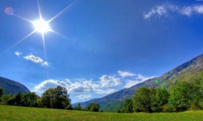 حالة الطقس: درجات الحرارة أعلى من المعدل السنوي