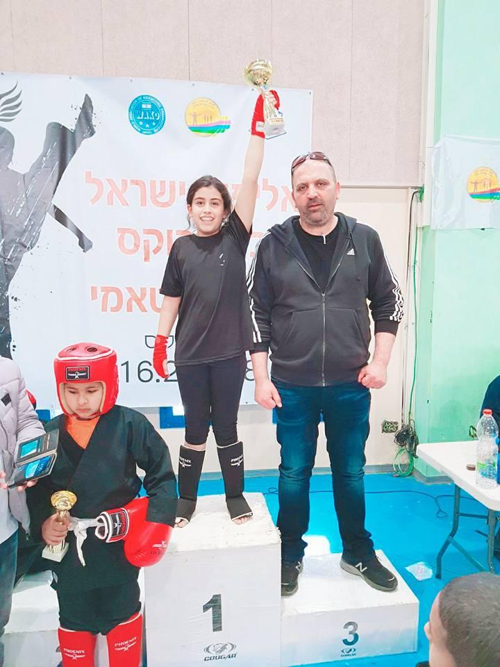 روشان عدوان من الناصرة تتوّج ببطولة الكيك بوكس