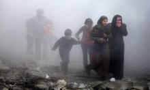 61 قتيلا بقصف روسي للغوطة ونزوح جماعي للمدنيين