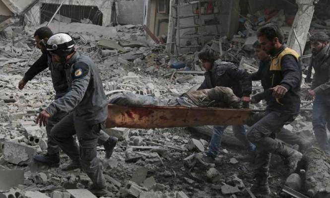 رائحة الموت تفوح  من الغوطة.. عشرات القتلى ومئات الجرحى