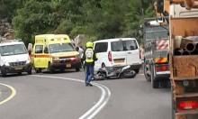 إصابة سائق دراجة نارية بحادث قرب أم الفحم