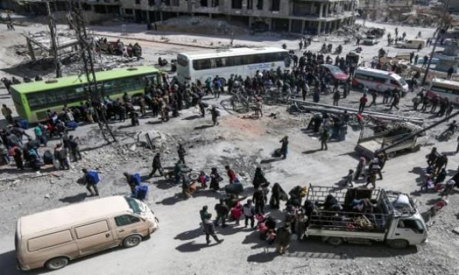 نزوح جماعي عن دوما وآلاف يهجرون من الغوطة لإدلب