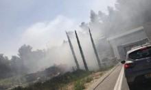 احتراق سيارة يتسبب بأزمة سير في أنفاق الناصرة