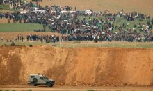 قوات الاحتلال تطلق قنابل الغاز والرصاص المطاطي قبل بدء المسيرة