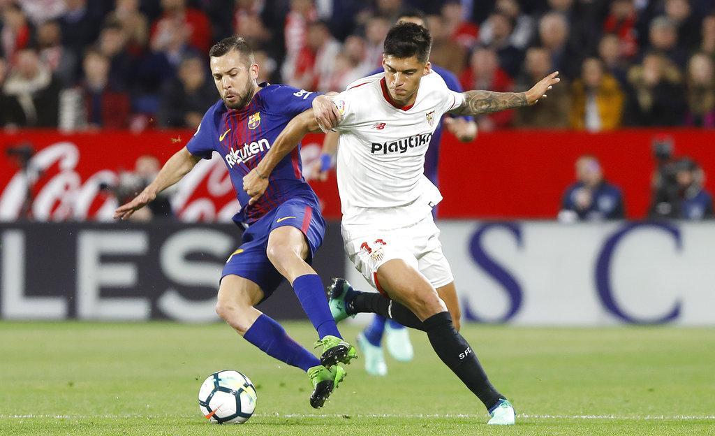 برشلونة يفلت من الخسارة خلال دقيقة واحدة