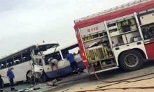 الكويت: مصرع 15 شخصا في تصادم حافلتين