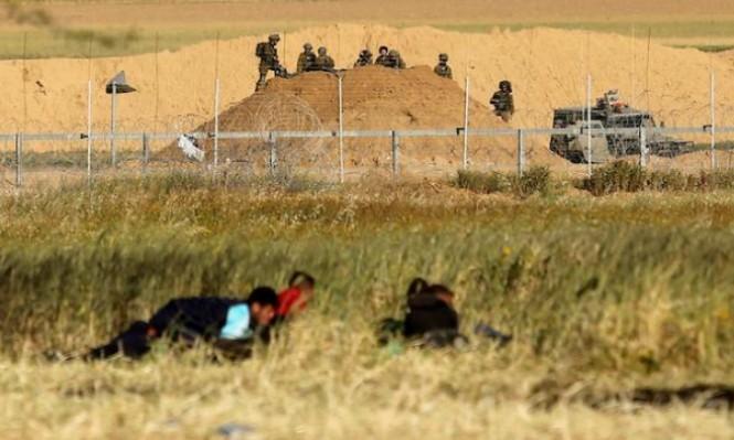 إصابات بالرصاص الحي بمواجهات مع الاحتلال على حدود غزة