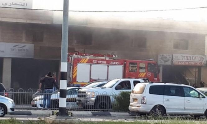 كفر ياسيف: اندلاع حريق في مستودع مقابل لمحطة وقود