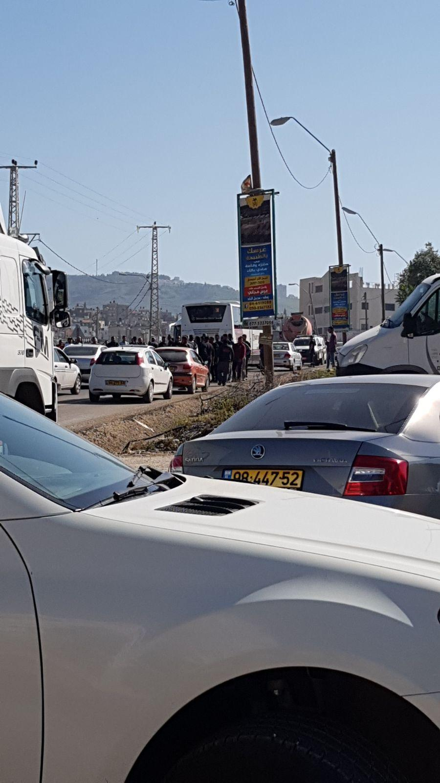 كفر كنا : إصابة خطيرة لشاب في حادث طرق
