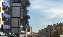 حريق يشتعل بعدة طوابق بمستشفى في إسطنبول