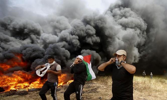مسيرة العودة: ارتفاع عدد الشهداء إلى 10 والمصابين إلى 1400