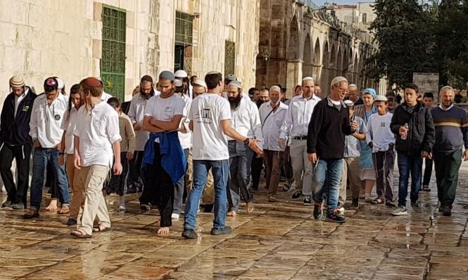 """2409 مستوطنين اقتحموا الأقصى بـ""""الفصح العبري"""""""