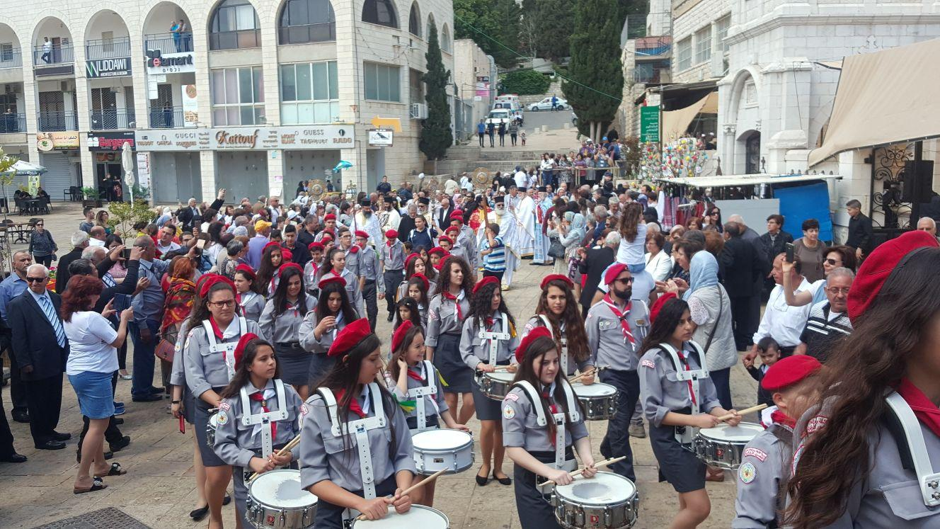 الناصرة: قداس ومسيرة احتفالية بعيد البشارة