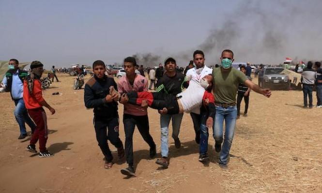 غزة: شهيد و968  إصابة بمسيرة العودة الكبرى