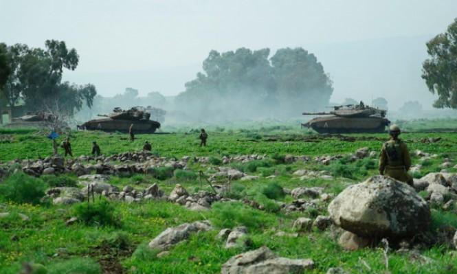 """إسرائيل """"تصمت"""" وتغلق المجال الجوي فوق الجولان المحتل"""