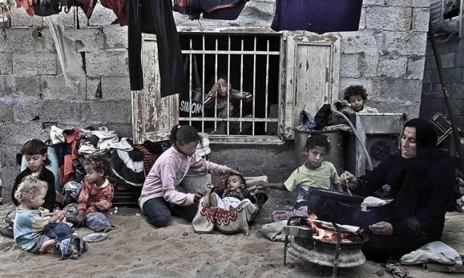 53% من سكان غزة يعيشون بفقر مدقع