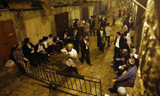 مسيرة للمستوطنين بالقدس القديمة والاحتلال يبعد 10 فلسطينيين