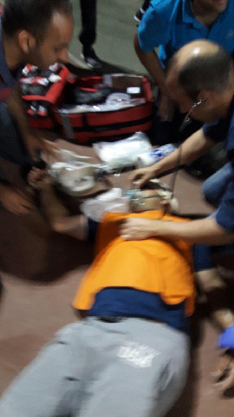 كفر كنا: إصابة خطيرة لشاب سقط خلال مباراة كرة قدم