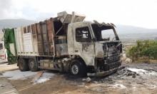نحف: اندلاع حريق في شاحنة