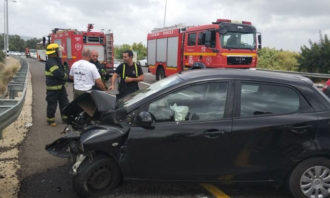 5 إصابات في حادثي طرق في الجليل