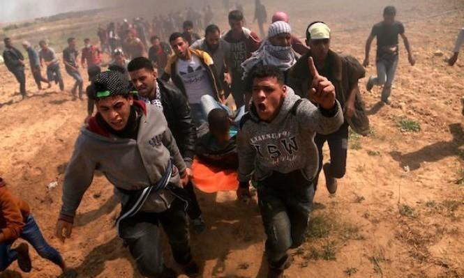 إصابة 3 فلسطينيين بالرصاص الحي بمواجهات شرق خان يونس