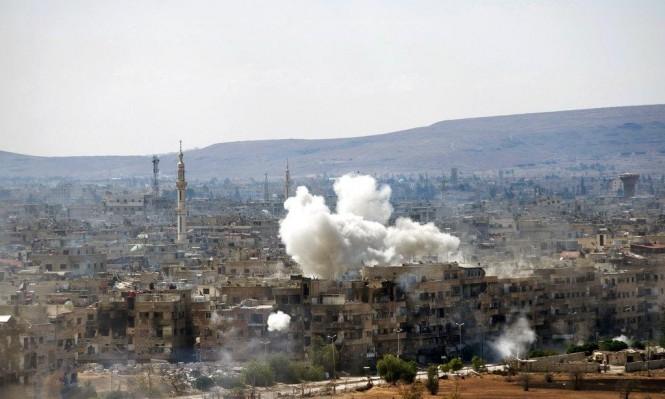 اشتباكات عنيفة وقصف مدفعي وجوي كثيف جنوبي دمشق
