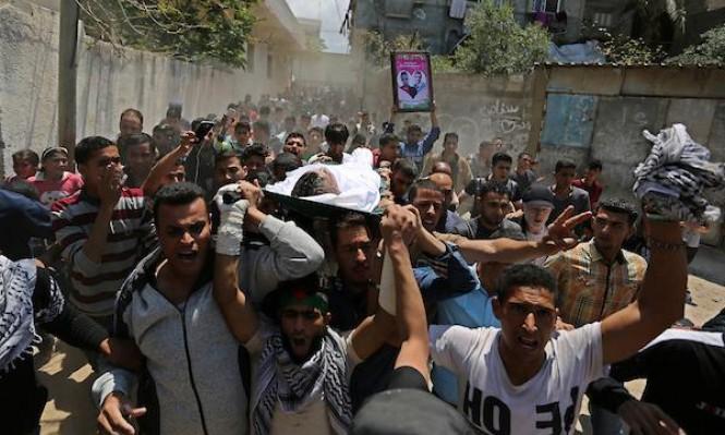 وصول جثمان الزميل الصحافي الشهيد أبو حسين إلى غزة