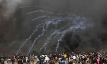 الاحتلال يستخدم غازا مجهولا بحقّ الفلسطينيين بغزّة
