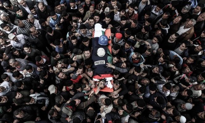 تشييع الحرية: الصحافة في مرمى قناصة الاحتلال