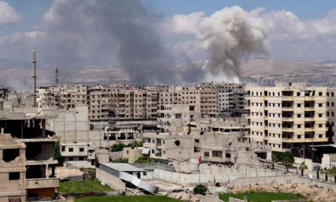 """""""داعش"""" يهاجم المعارضة جنوب دمشق بالتزامن مع قصف روسي"""