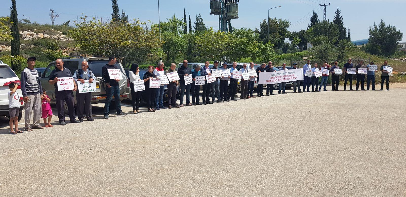 سخنين: تواصل الاحتجاج ضد تجريف شارع الشكاير