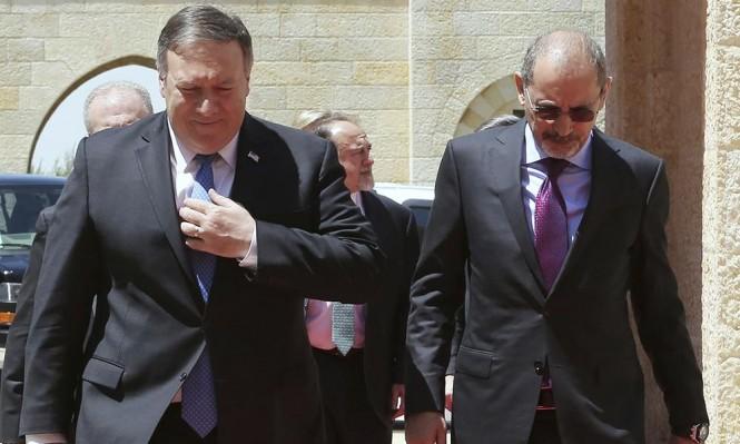 بومبيو يدافع عن جرائم الاحتلال بغزة ويتجنب حل الدولتين