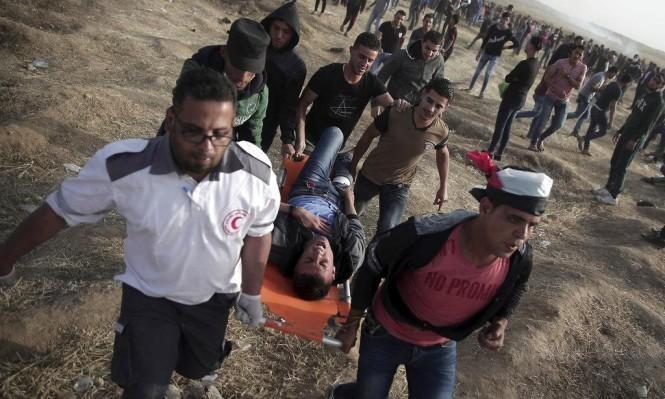 إصابة طفليْن بعد استهداف الاحتلال لمتظاهرين شرق خانيونس