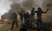 40 إصابة بالرصاص الحي والاختناق على حدود غزة