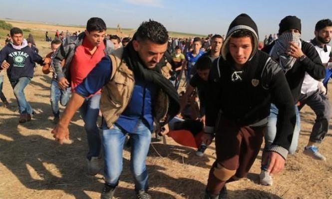 غزة: 6 إصابات برصاص الاحتلال إحداها خطيرة شرق المغازي