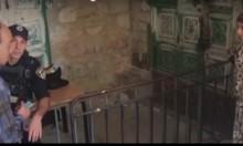 الاحتلال يمنع طفلة فلسطينية من دخول الأقصى بسبب حقيبة!