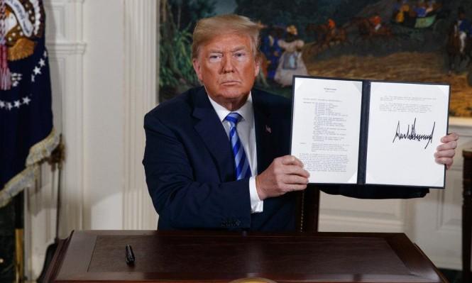 ترامب يعلن الانسحاب من الاتفاق النووي وعقوبات على إيران