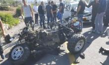عرعرة: إصابة خطيرة لشاب في حادث طرق