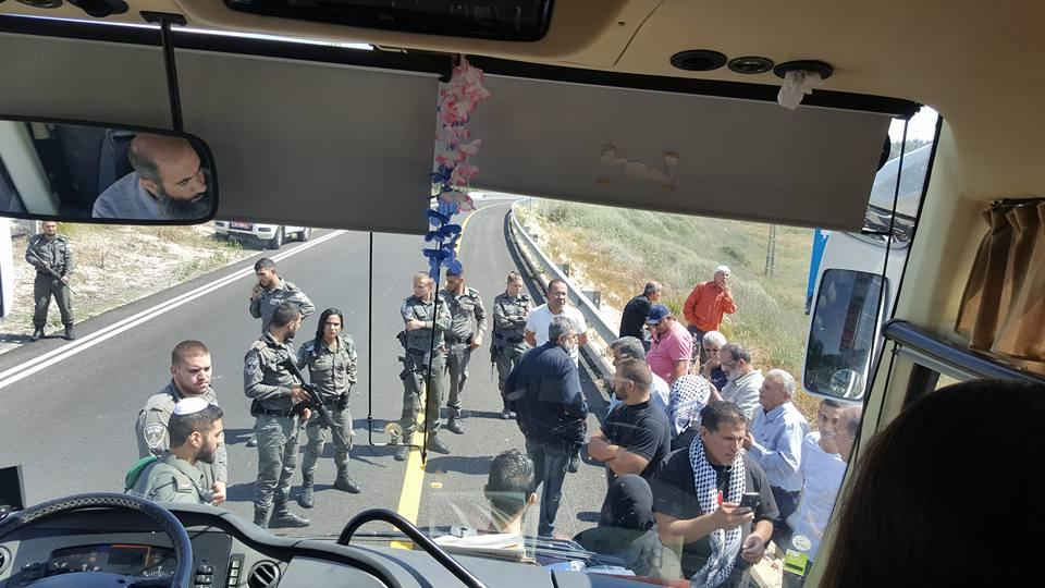 الشرطة توقف حافلة قرب اللطرون كانت في طريقها للقدس