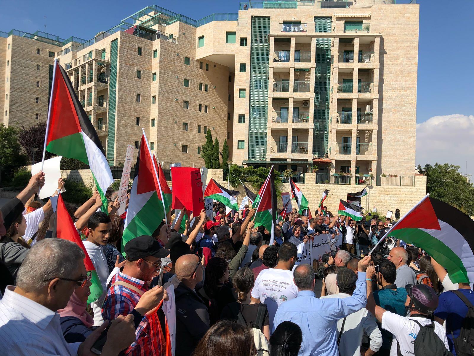 المظاهرة المناهضة لنقل سفارة أميركا للقدس... اعتقالات ومواجهات