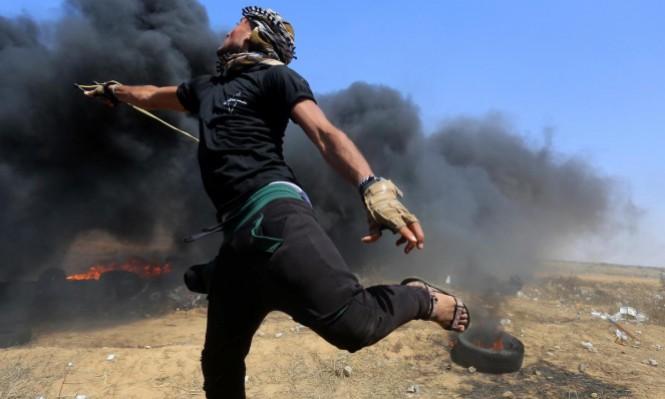 الاحتلال يشوش الاتصالات ويستهدف مخيمات العودة بالقنابل الحارقة