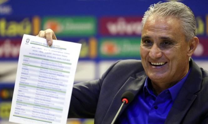 منتخب البرازيل يعلن قائمة لاعبيه للمونديال