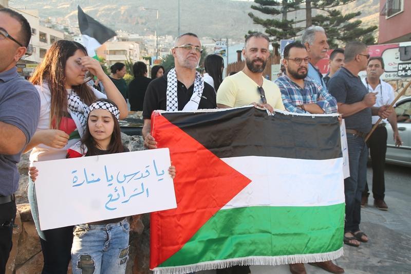 مواصلة الاحتجاج في أراضي 48 ردا على مجازر الاحتلال في غزة