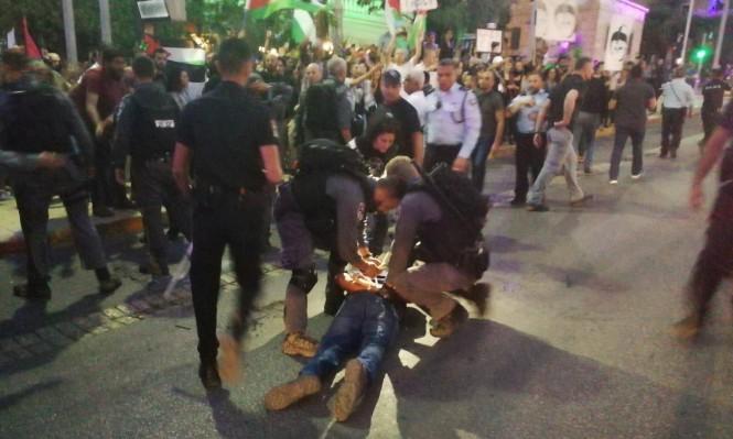 حيفا: الشرطة تشن حملة ترهيب ضد متظاهرين لنصرة غزة