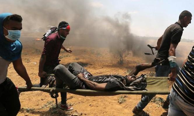 حقوقية: الاحتلال تعمّد استهداف الجزء العلوي للمتظاهرين بهدف قتلهم
